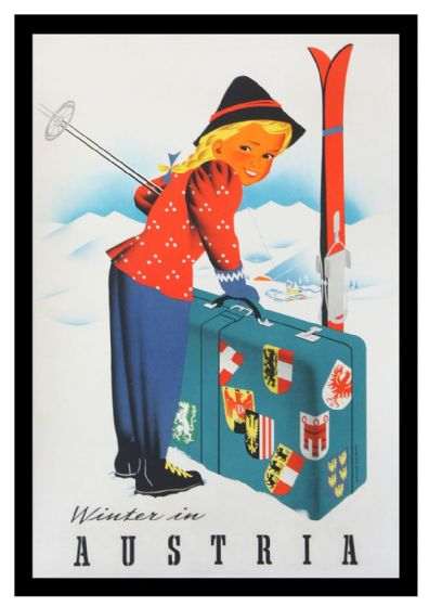 Winter in Austria. Vintage Skiing/Travel Print/Poster. Sizes: A4/A3/A2/A1 (002688)